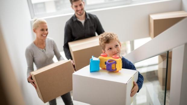 mudarse a una nueva vivienda en familia